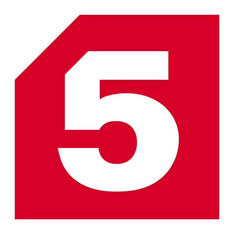 Логотип 5 канал (Пятый канал) / Телевидение / TopLogos.ru